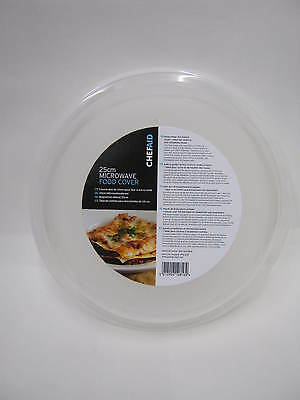 "New Chef Aid Microwave Medium Plate Food Cover Guard 23cm 9"" Clear"
