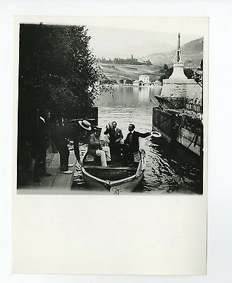 French History - Row Boat, 1903 - Vintage Photograph