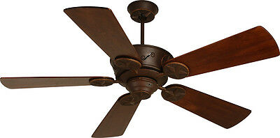 """Craftmade Chaparral Ceiling Fan CP52AG with 54"""" Premiere Distressed Teak Blades"""