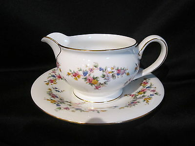 Minton SPRING FLOWERS - Gravy Boat & Stand