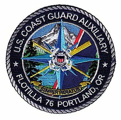Portland Oregon Auxiliary Flotilla 76 W5535 USCG Coast Guard patch