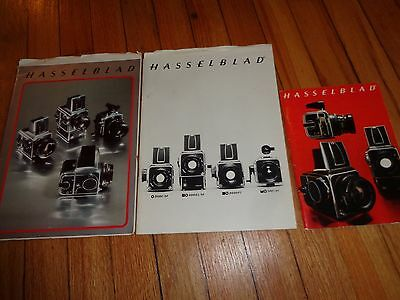 Lot of Three Vintage Hasselblad Camera Photography Catalogs