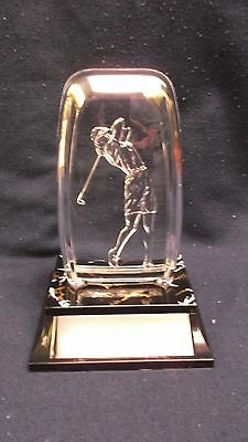 female golf acrylic fossil award trophy decorative weighted base
