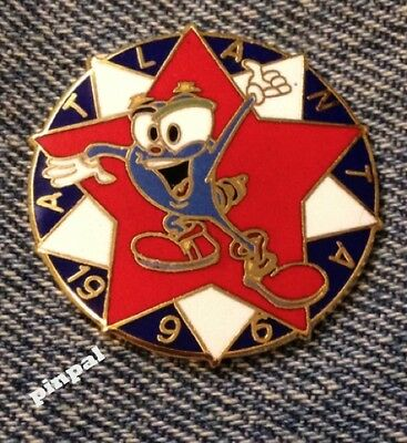 1996 Olympic Pin Badge~Mascot IZZY~White & Red Star~Cloisonne by HoHo NYC