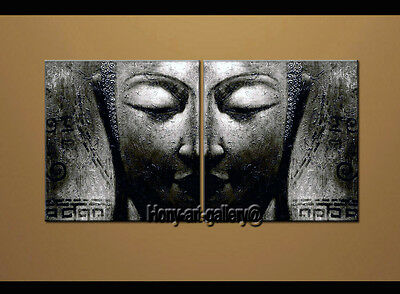 Modern Black and white Buddha ABSTRACT OIL PAINTING Canvas Wall Art Decor oil130