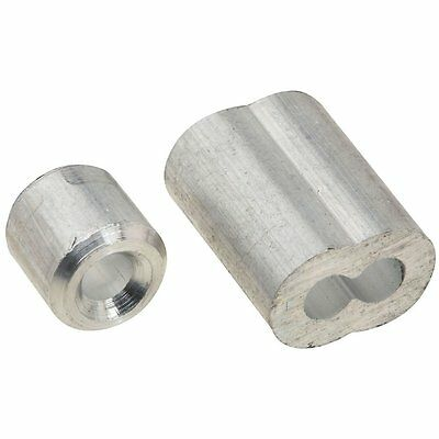 National Hardware N283-853 V3231 Ferrules and Stops, Aluminum, 1/8""