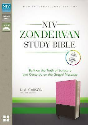 NIV Zondervan Study Bible, Leathersoft, Pink/Brown, Indexed: Built on the Truth