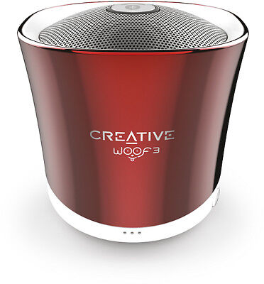 CREATIVE Woof 3 BT Wireless Speaker integrierter MP3 Player, rouge red