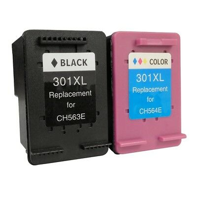 Remanufactured 301XL Black & Colour Ink for HP Deskjet 2054A 2450 3000 3050