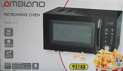 Medion MD 14785 Mikrowelle Ambiano 700W Microwave 17L LED Display schwarz; X1