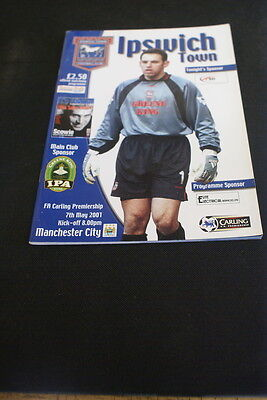 Ipswich Town v Manchester city 7 May 2001