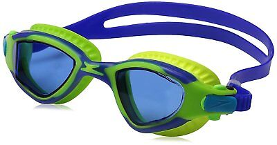 Speedo Jr. MDR 2.4 Polarized Mirrored Swim Swimming Pool Goggles, Blue, One Size