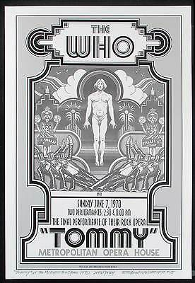 Tommy The Who 1970 Broadway Show Poster New Artist Edition Signed by David Byrd