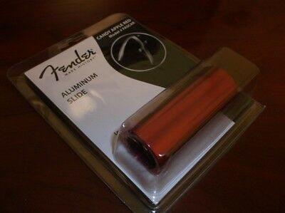 NEW - Fender Aluminum Guitar Slide, Candy Apple Red, #FASCAR, 099-2411-001