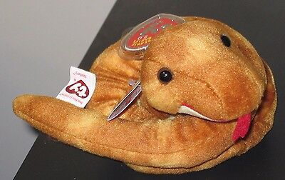 Ty 2.0 Beanie Baby ~ SLITHERY the Snake ~MINT with MINT TAGS (STICKER)