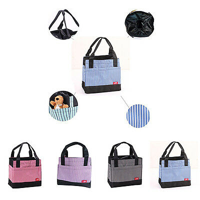 Precious Stripe Insulated Thermal Tote Outdoor Travel Picnic Storage Lunch Bag