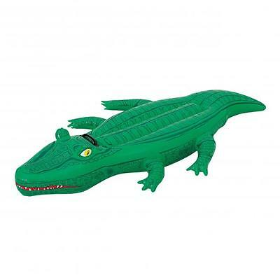 Crocodile chevauchable gonflable bouee - 1 Poignee - 167x89cm - Port 0€ - 30176