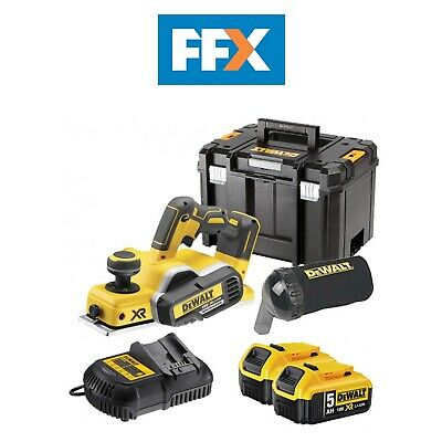 DeWalt DCP580P2 18V XR Li-ion Cordless Brushless Planer Kit 2 x 5.0ah