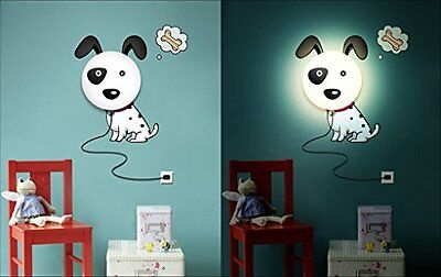 3D HOREVO Night Light DIY Cartoon Wallpaper Stickers Wall Lamp Baby Room Bedroom