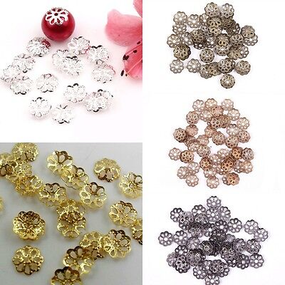 500 Pcs Flower Filigree Bead Caps End For DIY Jewellery Findings Craft 6mm