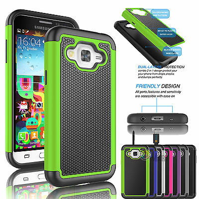 Shockproof Armor Hybrid Rugged Rubber Hard Case Cover Skin for Samsung Galaxy J7