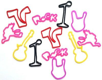 2 packs x 12 bracelets silly bands Rubband Flash musique Rock and Roll