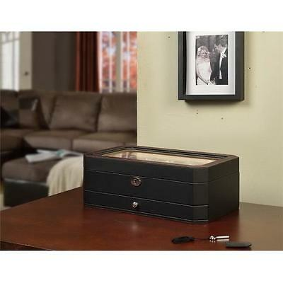 Nathan Direct W1231BLACK Carter 10 Watch box with drawer