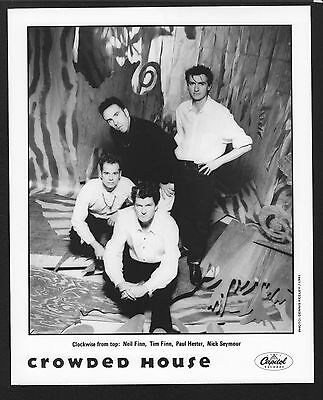 VINTAGE ORIGINAL Ltd Edition Promo Photo 8x10 Crowded House b Tim Neil Finn 1991