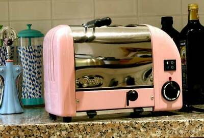Classic DUALIT Used/Working COMBI TOASTER Disc. Color PETAL PINK #31152 England