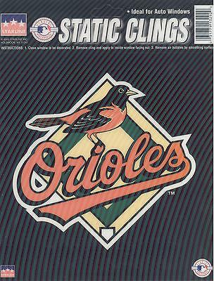12 Baltimore Orioles 6 inch Static Cling Stickers
