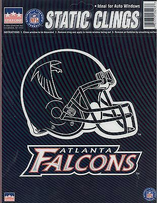12 Atlanta Falcons 6 inch Static Cling Stickers