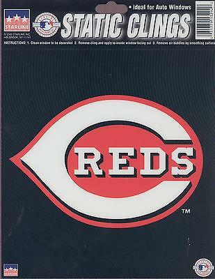 12 Cincinnati Reds 6 inch Static Cling Stickers