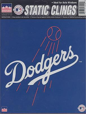 12 Los Angeles Dodgers 6 inch Static Cling Stickers