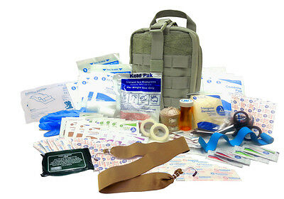 Military IFAK Level 2 EMT First Aid Kit Rip-Away Army Medic Bag OD Green #FA22