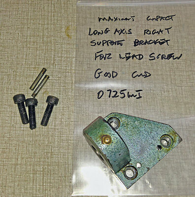 Emco Maximat Compact Lathe Lead Screw Support Bracket (for Handle end)   0725MI
