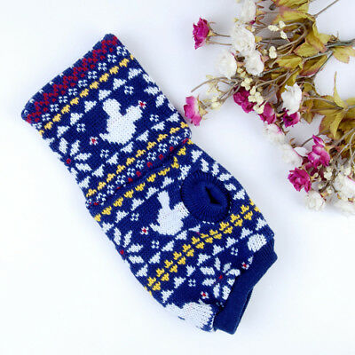 Pet Dog Puppy Knitwear Sweater Apparel Clothes w/ Xmas Snowflake Mickey S