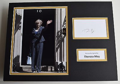 Theresa May SIGNED autograph 16x12 photo display UK Prime Minister AFTAL & COA