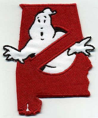 Alabama State - Embroidered Ghostbusters No Ghost Iron-On Patch