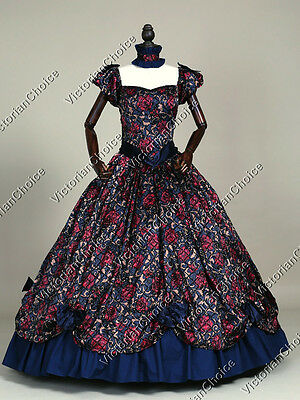 Southern Belle Victorian Princess Dress Ball Gown Theatre Reenactor Costume 323