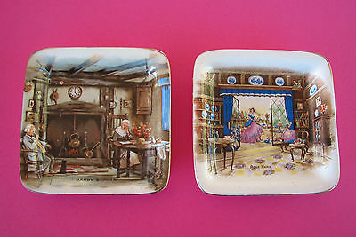 2 Vintage Lancaster English Ware Pin Dish - Rose Marie & Darby and Joan
