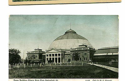 Vintage Postcard SPRINGFIELD IL STATE FAIR GROUNDS DOME BUILDING