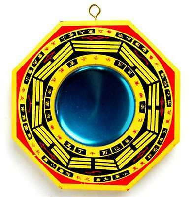 """New Chinese Concave Bagua Mirror Feng Shui Pa Kua Lucky Talisman Chi Energy 4"""" i"""