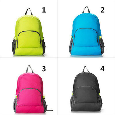 Waterproof Lightweight Packable Foldable Travel Backpack Daypack Shoulder Bags