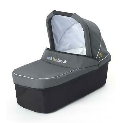 Out n About Nipper Single Carrycot (Steel Grey) From Birth Newborn Pram Body