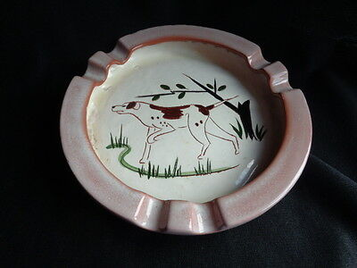 Rare Stangl Pottery Round Ashtray-Pointer Dog 1947-52