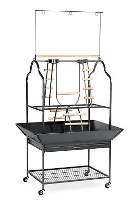 Prevue Hendryx Parrot Playstand in Black