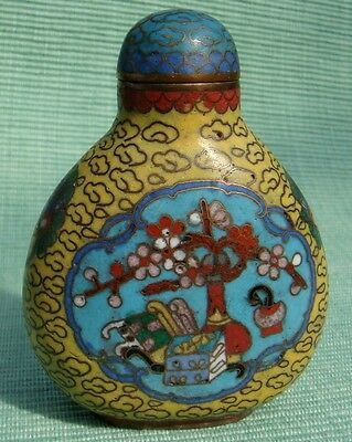 Snuff Bottle, Snuffbottle, Cloisonne, 8 Kostbarkeiten, China, Feng Shui