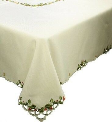 Xia Home Fashions Winter Berry Christmas Table Cloth