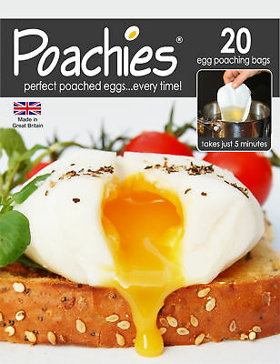 Poachies Pack Of 20 Egg Poaching Bags Poached Poach Eggs Perfect Every Time