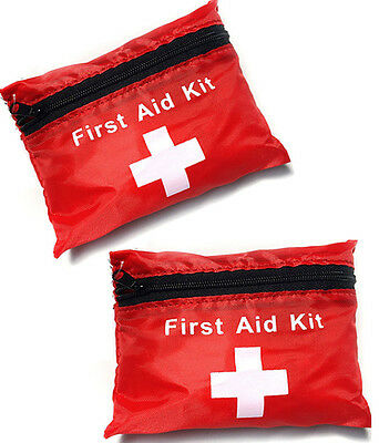 2 x 38 PIECE 1ST FIRST AID KIT EMERGENCY MEDICAL POUCH HOME CAR COMPACT BAG